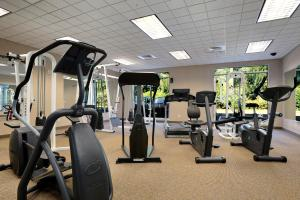 The fitness center and/or fitness facilities at Ramada by Wyndham Olympia