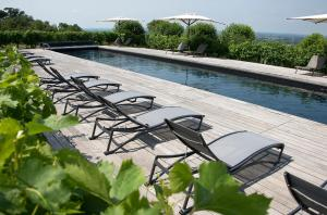 The swimming pool at or near Hôtel Le Saint-James