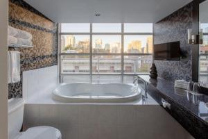 A bathroom at Opus Hotel