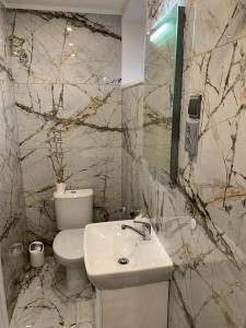 A bathroom at Pension Milada