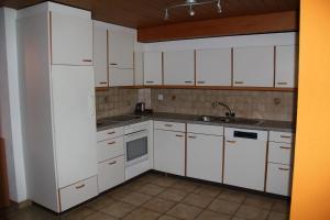 Küche/Küchenzeile in der Unterkunft Historic Hotel Steinbock