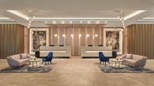 The lobby or reception area at Crowne Plaza Melbourne, an IHG Hotel