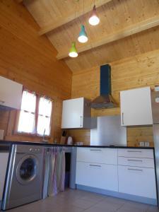 A kitchen or kitchenette at Gîtes Bon Air