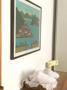 A bed or beds in a room at Apartment with one bedroom in Terni with wonderful city view