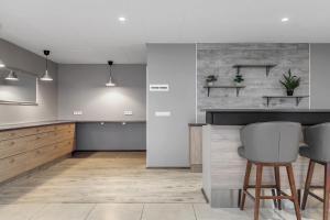 Kuchyň nebo kuchyňský kout v ubytování Hótel Múli
