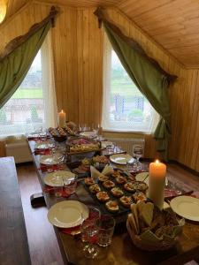 A restaurant or other place to eat at Dacha