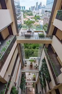 Blick von des Aparthotels aus