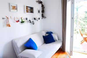 A seating area at Beachfront Apartment Mala Tereza