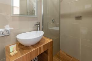 A bathroom at Hotel Solec Piura