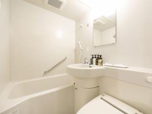 A bathroom at Asakusa Hotel Hatago