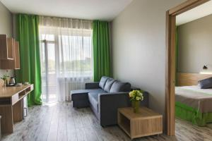 A seating area at Hotel Vesna