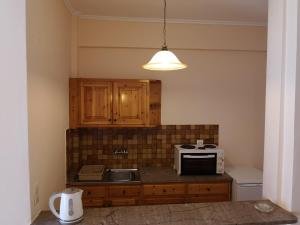 A kitchen or kitchenette at Elli Marina Studios and Apartments
