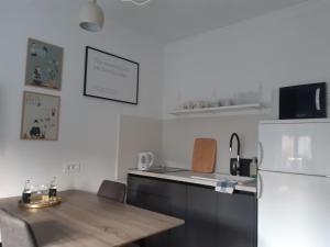 Kuchyň nebo kuchyňský kout v ubytování Hendrix'sBridge