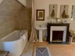 A bathroom at The Good House