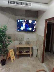TV o dispositivi per l'intrattenimento presso Aparthotel Vila San