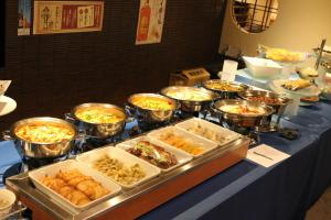 Breakfast options available to guests at Capsule Hotel Nikoh Refre(Male Only)