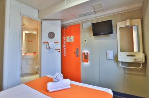 A television and/or entertainment center at easyHotel Sofia