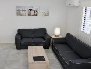 A seating area at Angelwaters