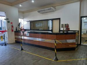 O saguão ou recepção de Apartamento Farol Barra Flat