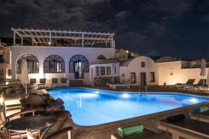 The swimming pool at or near Agnadi View Villa