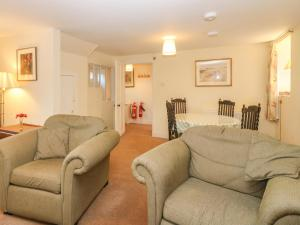 A seating area at North Mains Cottage