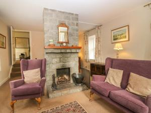 A seating area at Steading Cottage