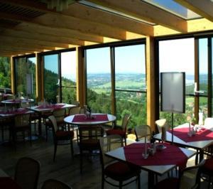 Ein Restaurant oder anderes Speiselokal in der Unterkunft Hubertusbaude