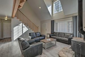 A seating area at Spacious Family Home Surrounded by Mtn Views!