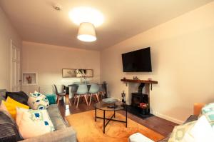 A television and/or entertainment center at Kellas Cottage