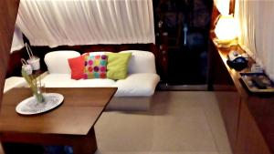 A bed or beds in a room at Property with 3 bedrooms in Salerno with wonderful sea view 1 km from the beach