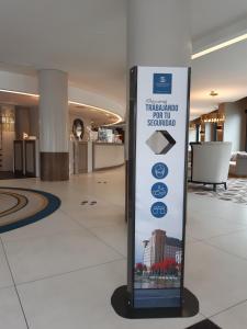 The lobby or reception area at Hotel Bahía