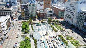 A bird's-eye view of The Westin St. Francis San Francisco on Union Square