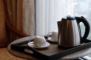 Coffee and tea-making facilities at Copthorne Hotel Manchester