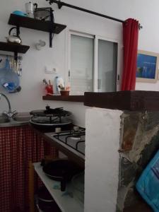 Una cocina o zona de cocina en Hacienda el Mirador
