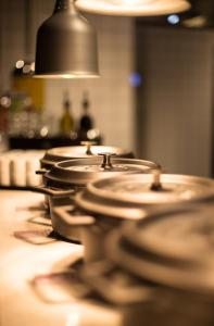 مطعم أو مكان آخر لتناول الطعام في Comfort Hotel Trondheim