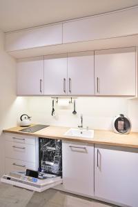 Kuchnia lub aneks kuchenny w obiekcie Apartamenty Sjesta River