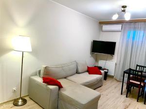 Część wypoczynkowa w obiekcie Apartament 48m w centrum Grójca