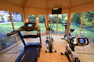 The fitness centre and/or fitness facilities at Forellenhof