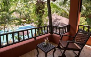 A balcony or terrace at Sudala Beach Resort