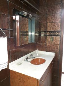 A bathroom at Apartamento centro salvador