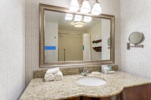 A bathroom at Hampton Inn & Suites Saratoga Springs Downtown