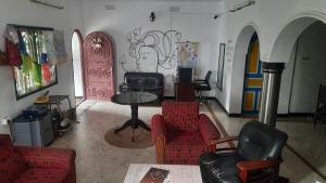 Гостиная зона в Hostel Gandhi