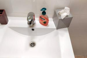 A bathroom at Apartment with one bedroom in Mons with wonderful city view and WiFi