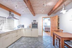 Küche/Küchenzeile in der Unterkunft Wellnesswarft Waygaard Ost