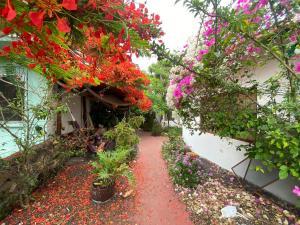 A garden outside Hostal Vista al Mar