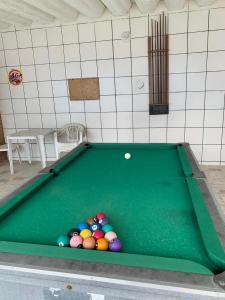 A pool table at San Marino Hotel