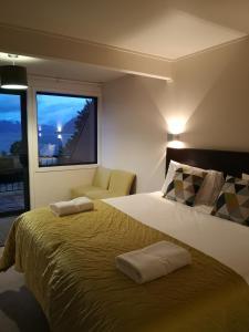 Un ou plusieurs lits dans un hébergement de l'établissement Hawea Hotel