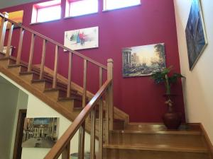 The lobby or reception area at SOLAR DA SERRA-GuestHouse