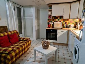 Cuisine ou kitchenette dans l'établissement Le Hameau de la Nicolinière