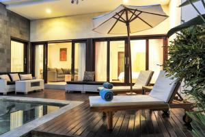 A seating area at Family three bed room neil villa private pool